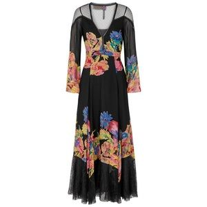 Free People Black Floral Lace Maxi Dress